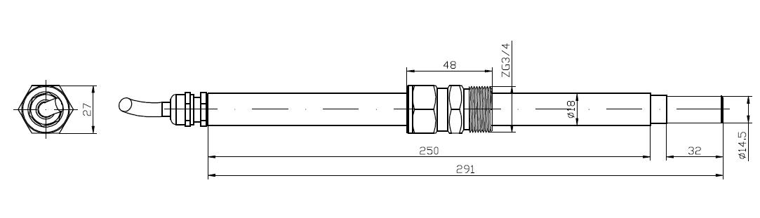 FM650G高温露点仪仪表技术指标 液晶显示参数 带有背光和图形显示,128*88 像素 可以单独查看温度、湿度、露点中任意一个参数,并显示 其最近的数据曲线 间隔从1 秒到720 秒可选,对应2 分钟到24 小时并可指示 出期间的最大值和最小值 仪表输出功能 可选择温度、湿度、露点中的任意两个作为模拟输出 模拟输出可以选择三线制4-20mA 或0-10V 可选择温度、湿度、露点中的任意两个作为模拟输出 通过按键可设定所需要的量程范围 可选RS485,地址范围00-63,波特率可设定 最多2 路继电器触